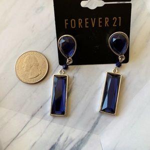 NWT RARE boho Sapphire blue vintage earrings